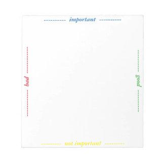 observe la selección bloc de papel