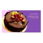 Observe la torta de chocolate que hace estallar, tarjetas de visita