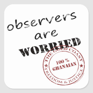observers are worried square sticker