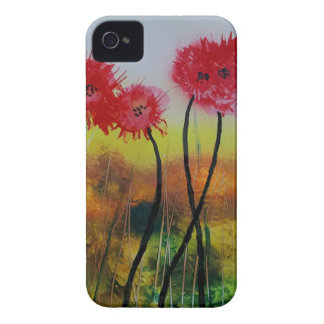 Observing Red Flowers iPhone 4 Case-Mate Cases