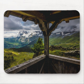 Observing The Grindelwald Valley And Swiss Alps Mouse Pad
