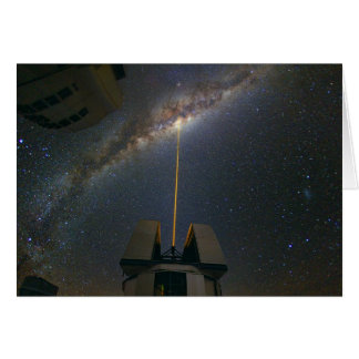 Observing the Milky Way using the Laser Guide Star Greeting Card