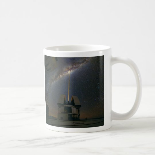 Observing the Milky Way using the Laser Guide Star Coffee Mug