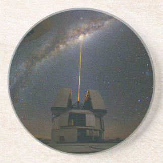 Observing the Milky Way using the Laser Guide Star Drink Coaster