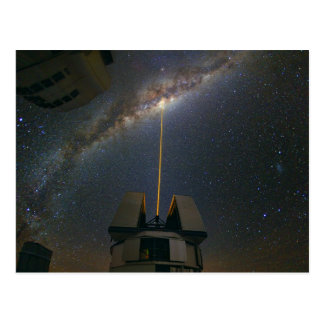 Observing the Milky Way using the Laser Guide Star Post Card