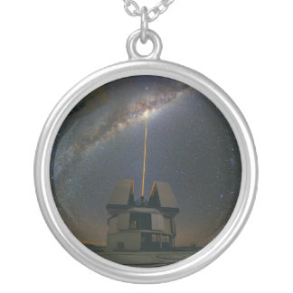 Observing the Milky Way using the Laser Guide Star Round Pendant Necklace