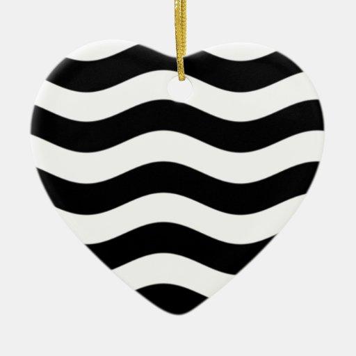 obsesión blanco y negro 1.jpg adorno navideño de cerámica en forma de corazón