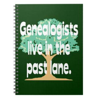 Obsesión de la genealogía libros de apuntes con espiral