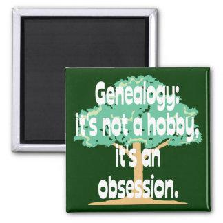 Obsesión de la genealogía imán cuadrado