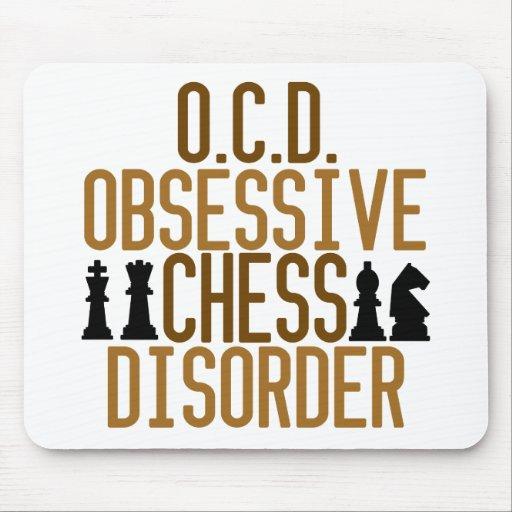 Obsesionado con ajedrez alfombrilla de ratones