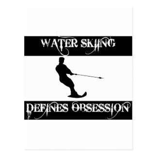 obsesionado con el esquí acuático postal