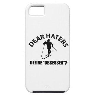 obsesionado con el esquí iPhone 5 carcasas