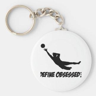 Obsesionado con el goalkeep llavero personalizado