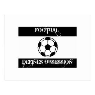 obsesionado con fútbol tarjetas postales