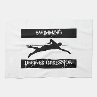 obsesionado con la natación toallas