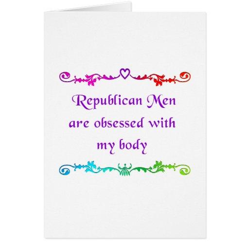 Obsesionado con mi cuerpo tarjeta de felicitación