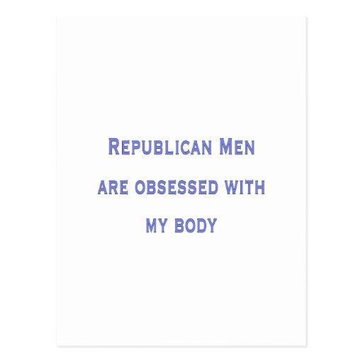obsesionado con mi cuerpo tarjeta postal