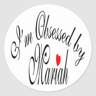 Obsessed By Mariah Classic Round Sticker