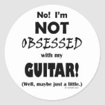 Obsessed Guitar Stickers