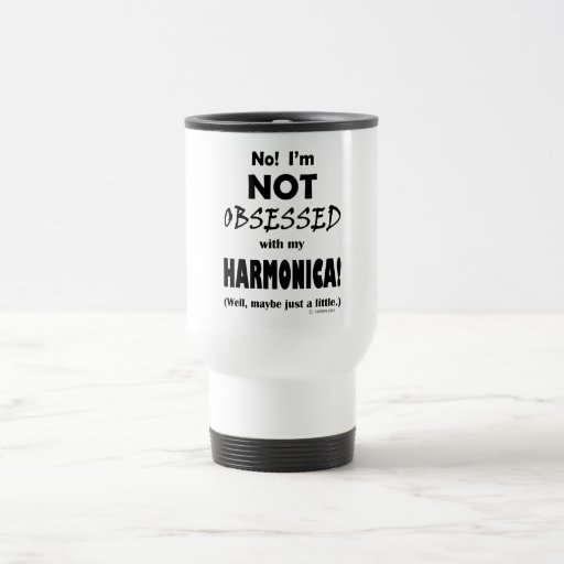 Obsessed Harmonica 15 Oz Stainless Steel Travel Mug