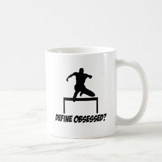 obsessed hurdle design coffee mug