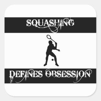 obsessed squash square sticker