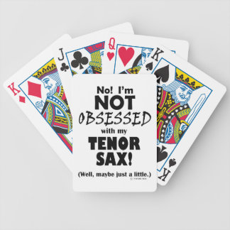 Obsessed Tenor Sax Bicycle Card Deck