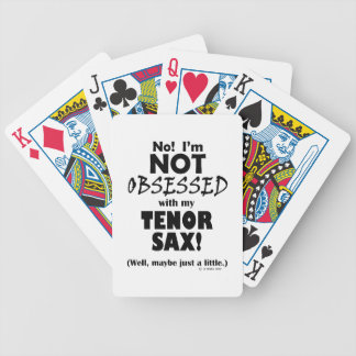 Obsessed Tenor Sax Bicycle Poker Deck