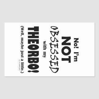 Obsessed Theorbo Rectangular Stickers