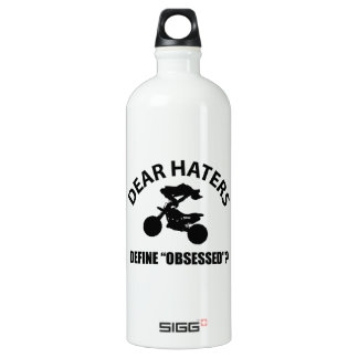 Obsessed with Automobile Racing designs Water Bottle
