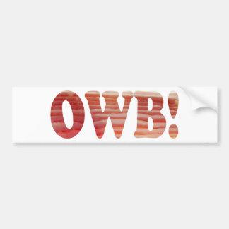 Obsessed With Bacon Bumper Sticker Car Bumper Sticker