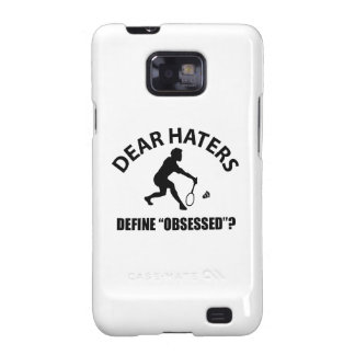 Obsessed with Badminton designs Galaxy SII Cases