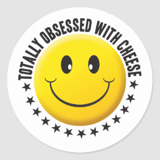 Obsessed With Cheese Smiley. Stickers