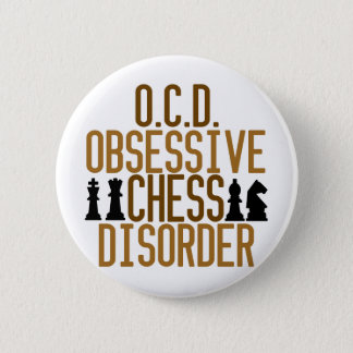 Obsessed with Chess Pinback Button