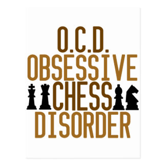 Obsessed with Chess Postcard