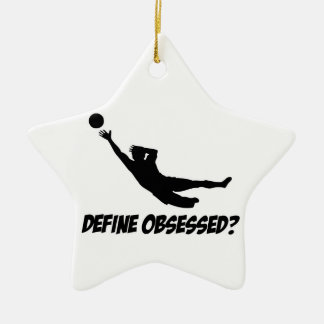 Obsessed with goalkeep ceramic ornament