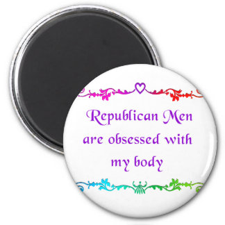 Obsessed with my body 2 inch round magnet