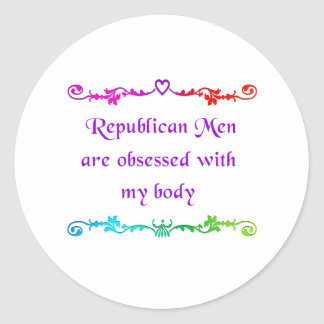 Obsessed with my body classic round sticker