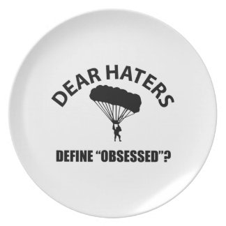 Obsessed with Parachuting designs Party Plate