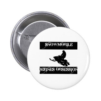 obsessed with snowmobile pinback button