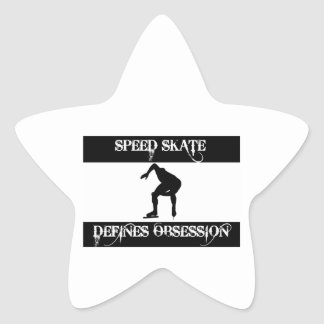obsessed with speed skate star sticker