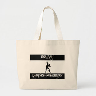 obsessed with squash large tote bag