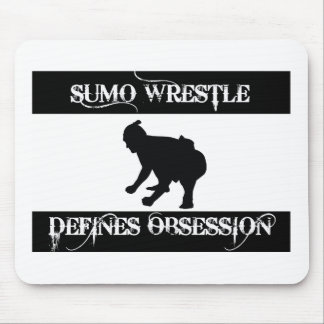 obsessed with sumo wrestle mouse pad