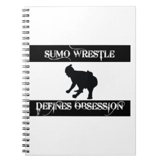 obsessed with sumo wrestle notebook
