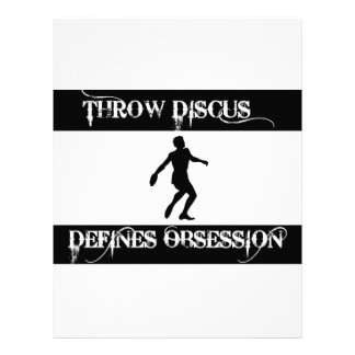 obsessed with throw discus personalized letterhead