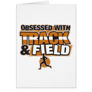Obsessed With Track and Field Card