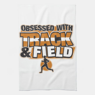 Obsessed With Track and Field Hand Towel