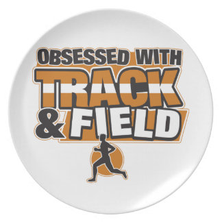 Obsessed With Track and Field Plate