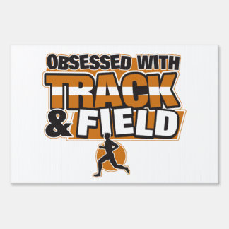 Obsessed With Track and Field Lawn Sign