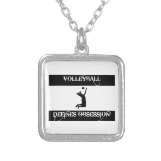 obsessed with volleyball personalized necklace